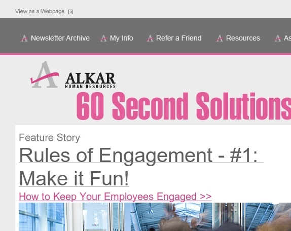 Welcome to 60 Second Solutions from Alkar Human Resources