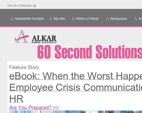 Crisis Communication for HR